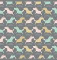 seamless sweet pastel unicorns silhouette stripe vector image