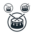 Snare drum icon single color music theme symbol vector image