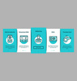 soccer football game onboarding elements icons set vector image vector image