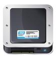 SSD icon vector image vector image