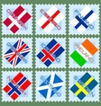 Stamps with flags vector image vector image