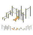 street workout area outdoor athletic gym vector image