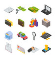 taxes icon set isometric style vector image vector image