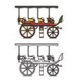 Three seats stagecoach or xix century steam car
