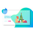 xmas holidays tradition website landing page vector image