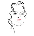 young womans face vector image vector image