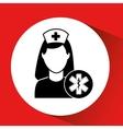 medicine sign hospital building icon vector image