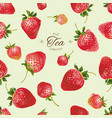 strawberry tea seamless pattern vector image