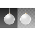 Christmas silver glass balls decoration vector image