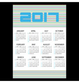 2017 simple business wall calendar with horizontal vector image
