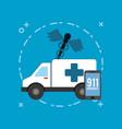 ambulance icon image vector image vector image
