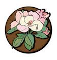 apple flower clip art brown vector image vector image