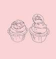 Birthday cupcakes party sketch