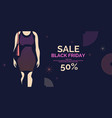black friday banner big sales trendy poster to vector image vector image