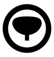 bladder the black color icon in circle or round vector image vector image