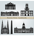 Buenos Aires landmarks and monuments vector image vector image