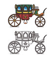 carriage for queen or icons victorian chariot vector image vector image