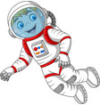 Cartoon astronaut isolated on white background