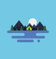 cartoon flat natural landscape vector image vector image