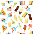 cartoon ice cream background pattern vector image vector image