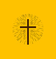 christianity symbol jesus christ cross vector image vector image