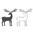 christmas reindeer set on white background vector image vector image