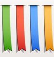 colored ribbon stripes vector image