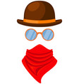 colorful cartoon western avatar vector image vector image