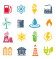 colorful energy concepts icon set vector image