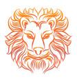 colorful sketch lion head vector image
