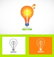 Creative idea logo vector image
