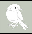 eastern bluebird lining draw front vector image vector image