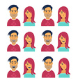 Facial Expressions of Woman and Man vector image