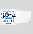 fathers day special offer sale light banner vector image vector image
