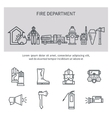 Fire safety line icons vector image