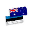 flags estonia and australia on a white vector image