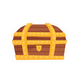 flat icon of locked wooden chest with vector image vector image