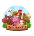 funny farm label vector image vector image