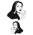 Glamour woman face vector image vector image