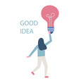 good idea business woman vector image