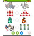 greater less or equal educational puzzle for kids vector image vector image