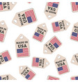 hang tag made in usa sticker with flag seamless vector image vector image
