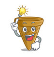 have an idea sweet wafer cone isolated on maskot vector image