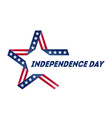 independence day star made ribbon in national vector image vector image