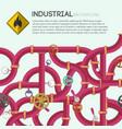 industrial water pipeline template vector image
