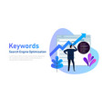 keywording seo keyword research keywords ranking vector image
