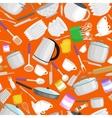 Kitchenware patternCartoon kitchen utensil vector image