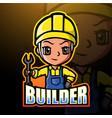 little boy builder mascot esport logo design