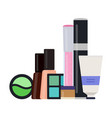 makeup kit icon flat isolated vector image vector image