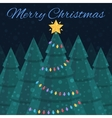 Merry Christmas Christmas card Nightlife vector image vector image